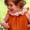 mini vestido lino calabaza