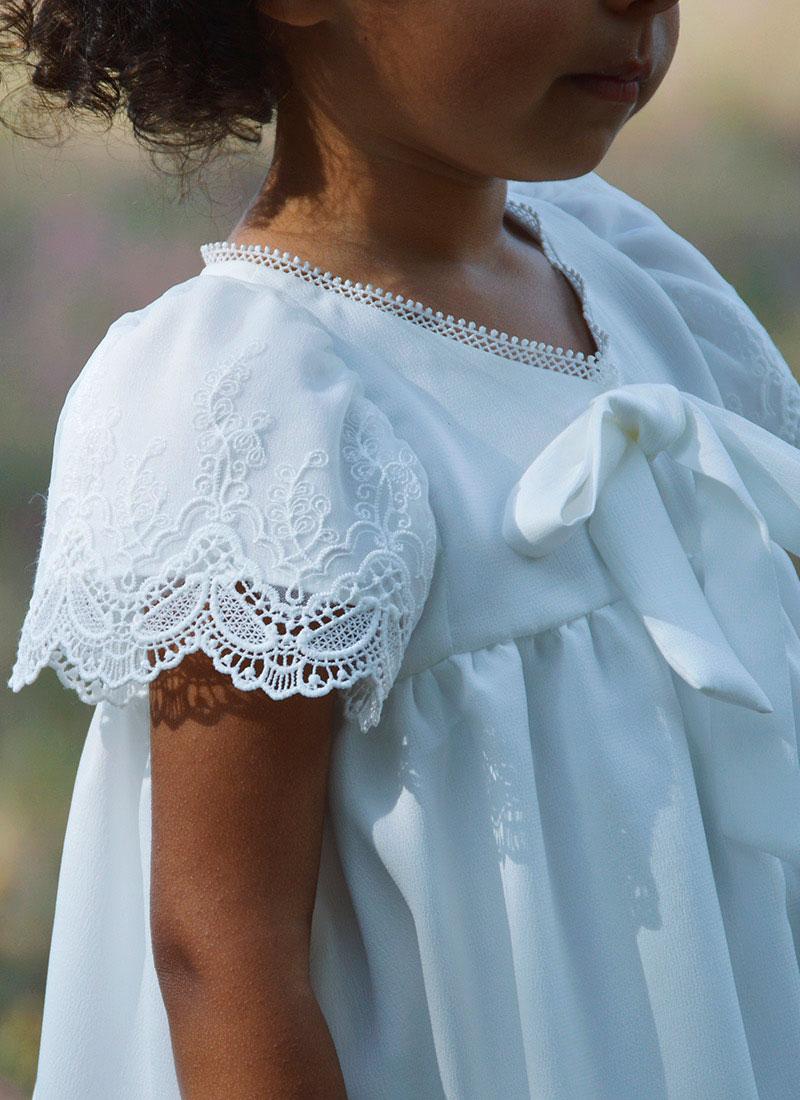 vestido blanco niña